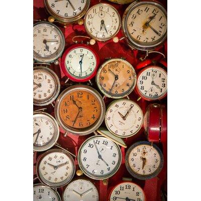 David & David Studio 'Alarm Clocks 2' by Laurence David Framed Photographic Print
