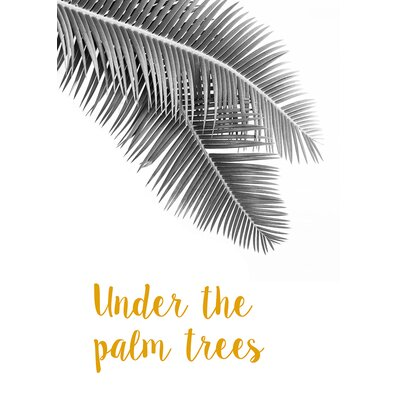 David & David Studio 'Under The Palm Trees' by Flora David Framed Graphic Art