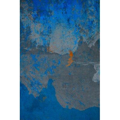 David & David Studio 'Orange and Blue 3' by Laurence David Framed Graphic Art