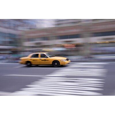 David & David Studio 'Yellow Cab Downtown Manhattan' by Philippe David Photographic Print