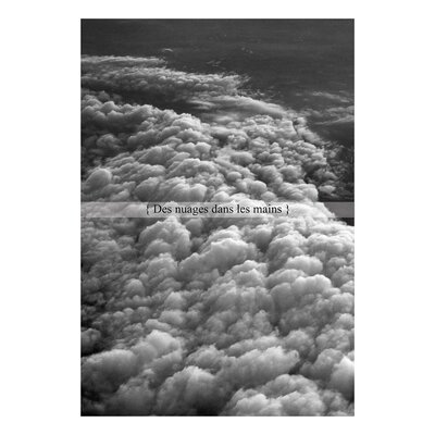 David & David Studio 'Clouds in the hands' by Flora David Framed Graphic Art