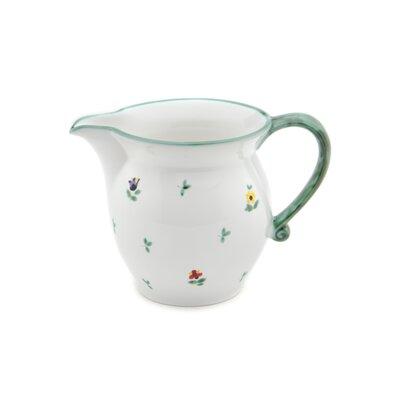 Gmundner Keramik 1000 ml Milchkännchen Streublumen