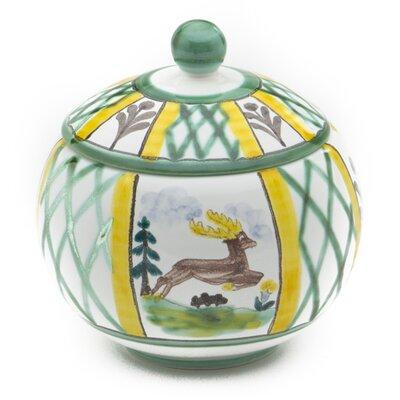 Gmundner Keramik Zuckerdose Jagd
