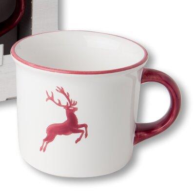 Gmundner Keramik Kaffeebecher Hirsch