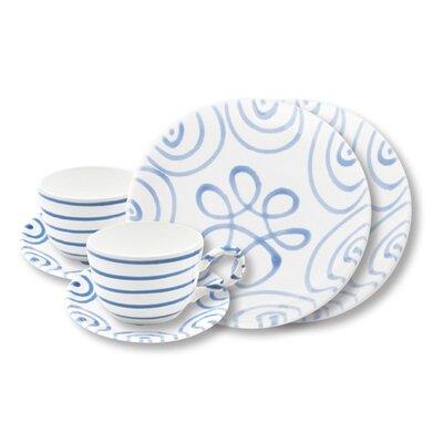 Gmundner Keramik 6-tlg. Kaffeservice Geflammt
