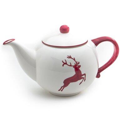 Gmundner Keramik Teekanne Hirsch aus Keramik