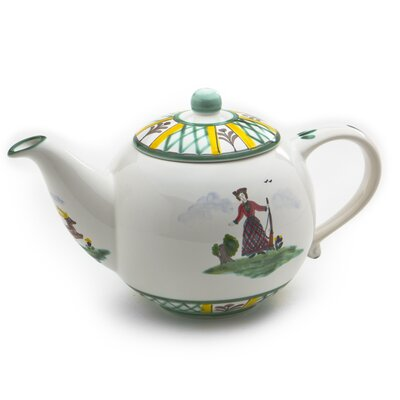 Gmundner Keramik Teekanne Jagd aus Keramik