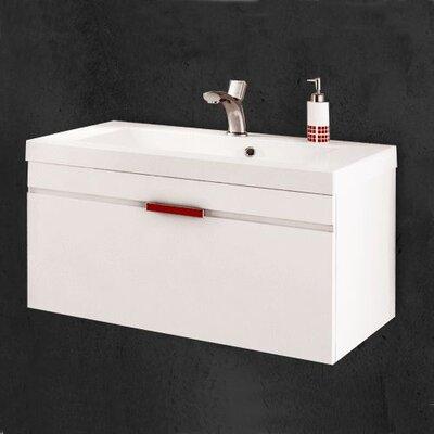 Sanitti 81 cm B 1 Waschbecken mit Waschbeckenunterschrank Savona