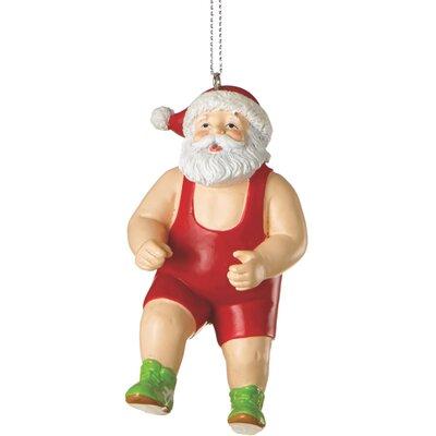 Santa in Wrestling Singlet Ornament