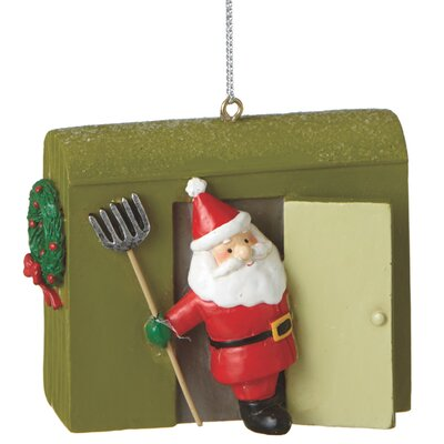 Santa with Ice House Ornament