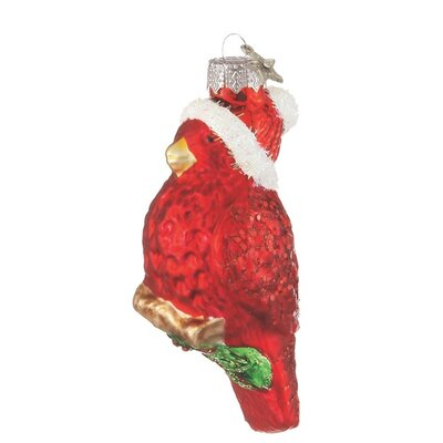 Cardinal with Hat Ornament