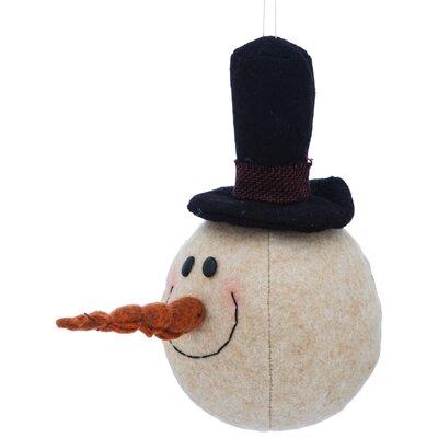 Plush Snowman Ornament