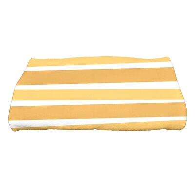 Hannukah Stripes Bath Towel Color: Gold