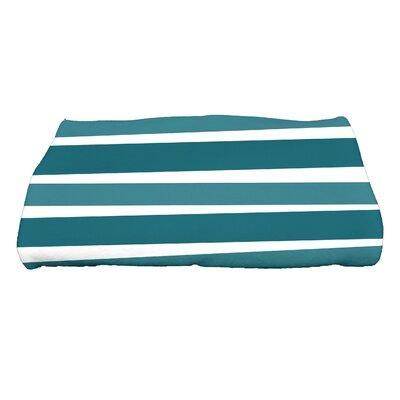 Hannukah Stripes Bath Towel Color: Teal