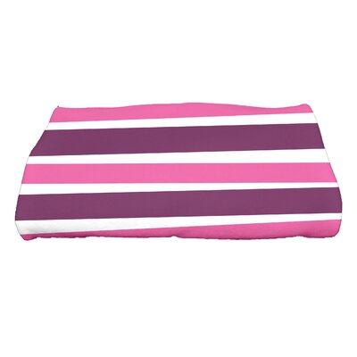 Hannukah Stripes Bath Towel Color: Purple