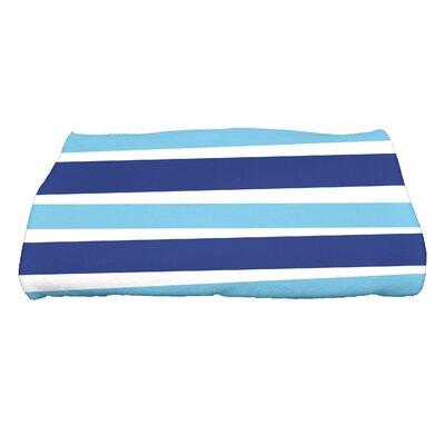 Hannukah Stripes Bath Towel Color: Blue