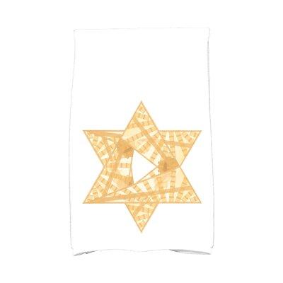 Hannukah Star Mosaic Hand Towel Color: Gold