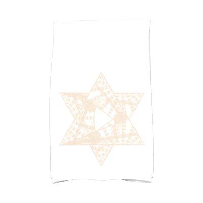 Hannukah Star Mosaic Hand Towel Color: Cream