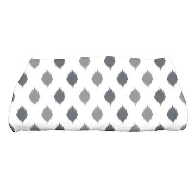 Hannukah Ikat Dot Stripes Bath Towel Color: Gray