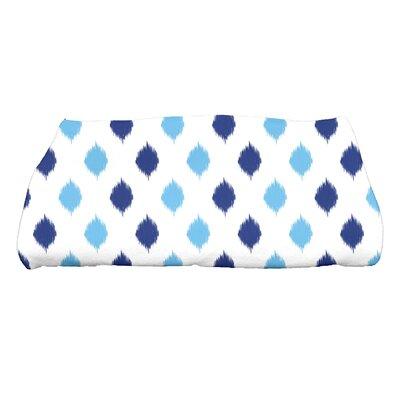 Hannukah Ikat Dot Stripes Bath Towel Color: Blue