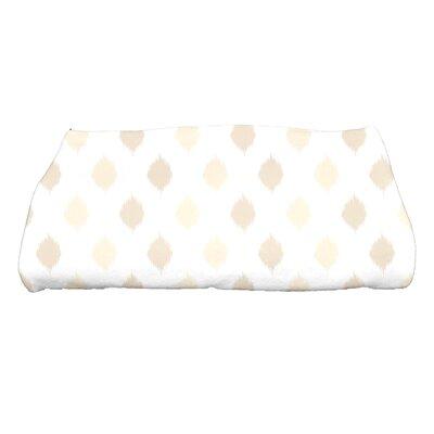 Hannukah Ikat Dot Stripes Bath Towel Color: Cream