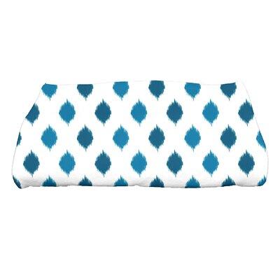 Hannukah Ikat Dot Stripes Bath Towel Color: Teal