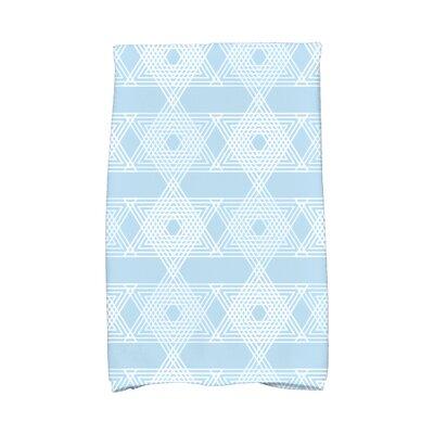 Hannukah Star Light Hand Towel Color: Light Blue