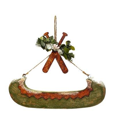 Rustic Paper Canoe Ornament