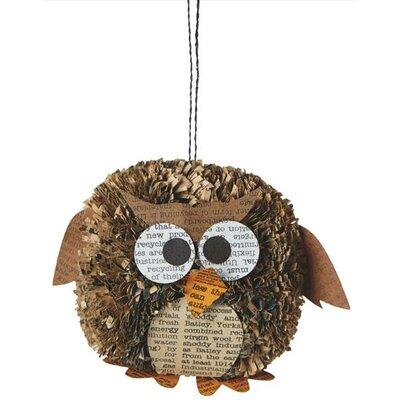 Owl Pom Pom Ornament