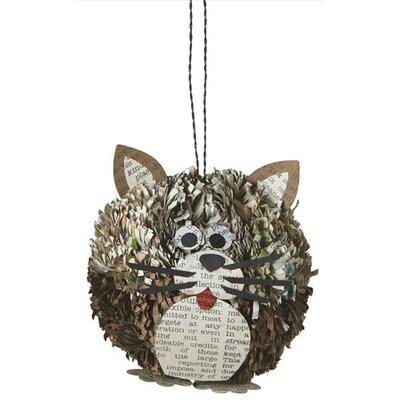 Cat Pom Pom Ornament