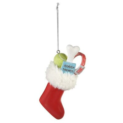 Stocking with Dog Gifts Ornament