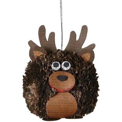 Moose Pom Pom Ornament