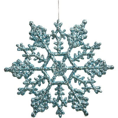 Glitter Snowflake Christmas Ornament Color: Baby Blue