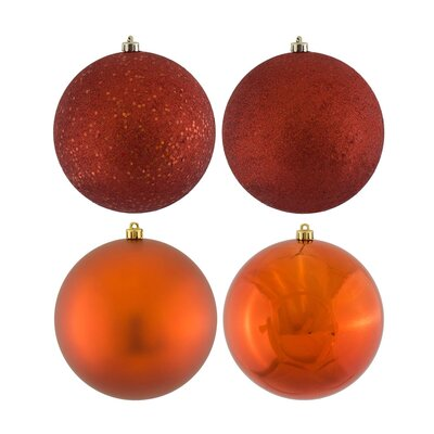 Christmas Ball Ornament with Cap Color: Copper