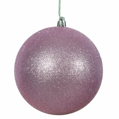 Gliter Christmas Ball Ornament with Cap Color: Orchid Pink