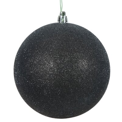 Gliter Christmas Ball Ornament with Cap Color: Black