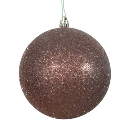 Gliter Christmas Ball Ornament with Cap Color: Mocha