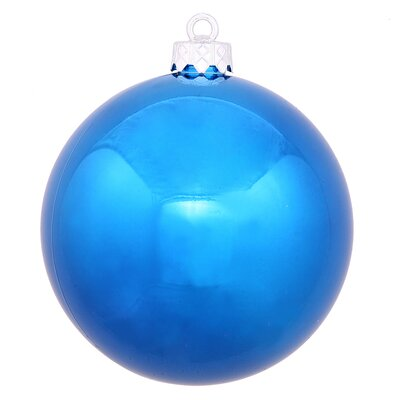 "UV Drilled Shiny Ball Ornament Size: 4.75"", Color: Blue"