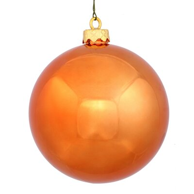 Christmas Ball Ornament with Cap Color: Burnish Orange
