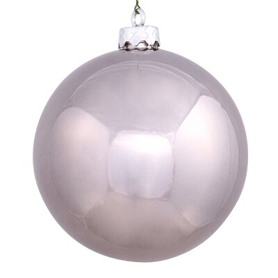 "UV Drilled Shiny Ball Ornament Size: 4.75"", Color: Pewter"