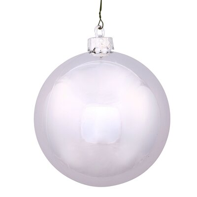 "UV Drilled Shiny Ball Ornament Size: 4.75"", Color: Silver"