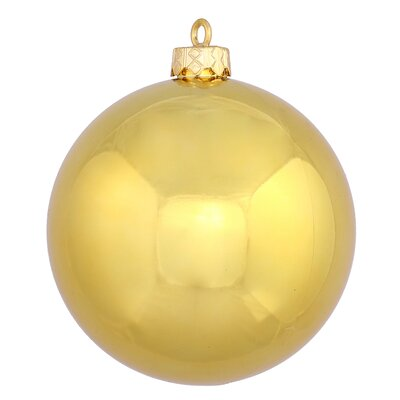 "UV Drilled Shiny Ball Ornament Size: 4.75"", Color: Gold"