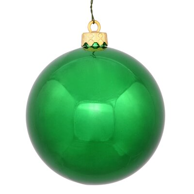 "UV Drilled Shiny Ball Ornament Size: 4.75"", Color: Green"