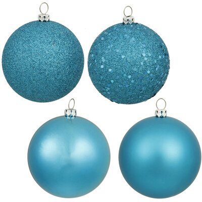 Christmas Ball Ornament with Cap Color: Turquoise