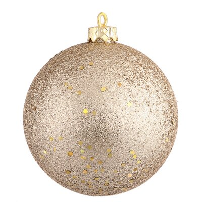 Assorted Ball Drilled Christmas Ornament Color: Champagne