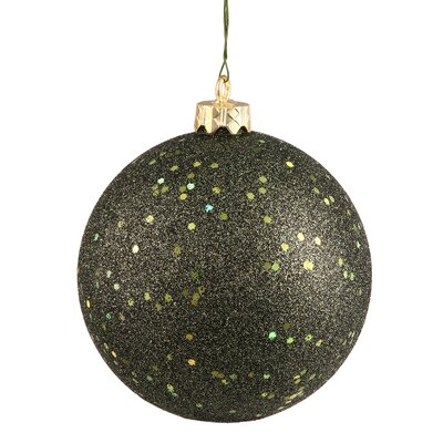 Christmas Ball Ornament with Cap Color: Olive