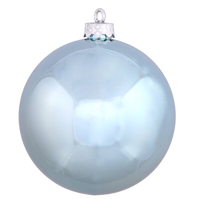 "UV Drilled Shiny Ball Ornament Size: 4.75"", Color: Baby Blue"
