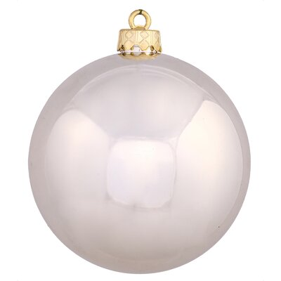 "UV Drilled Shiny Ball Ornament Size: 4.75"", Color: Champagne"