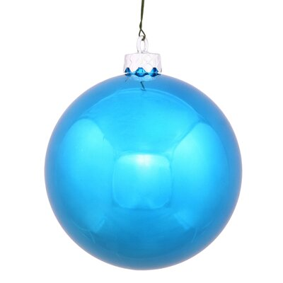 "UV Drilled Shiny Ball Ornament Size: 4.75"", Color: Turquoise"