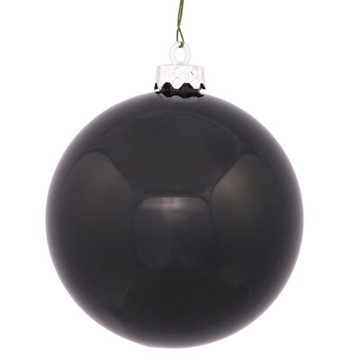 "UV Drilled Shiny Ball Ornament Size: 4.75"", Color: Black"